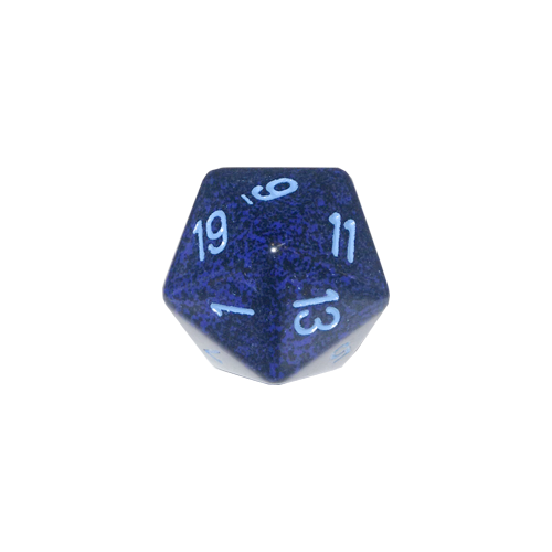 Кубик Chessex 34mm d20 Speckled™ Cobalt