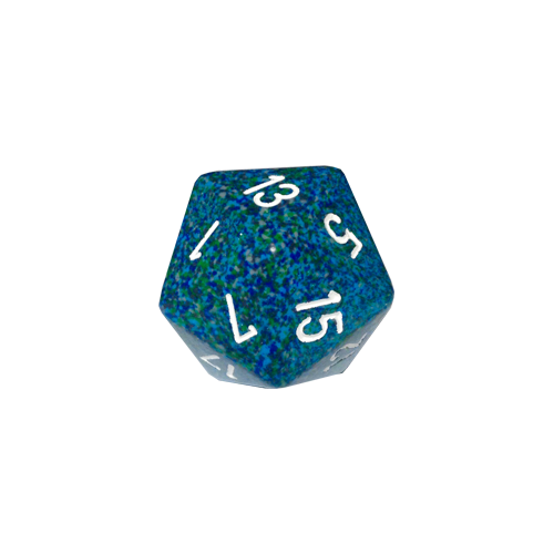 Кубик Chessex 34mm d20 Speckled™ Sea