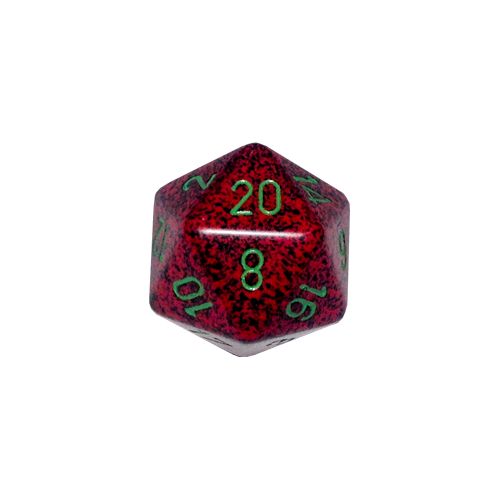 Кубик Chessex 34mm d20 Speckled™ Strawberry
