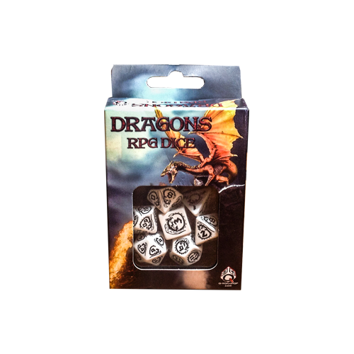 Набор кубиков Dragons RPG Dice White with Black (7)