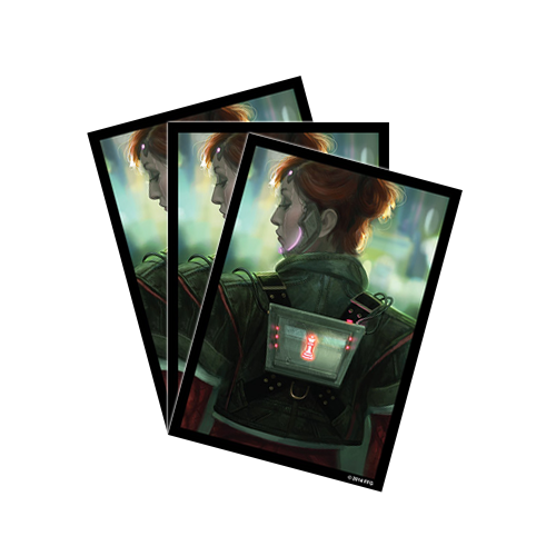 Протекторы FFG Android: Netrunner Art Sleeves: Deep Red