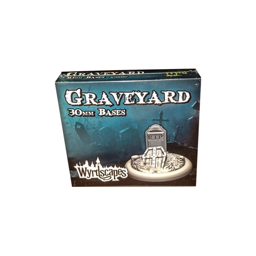 Дополнение к настольной игре Malifaux Second Edition - Wyrdscapes Graveyard 30mm Bases (5)