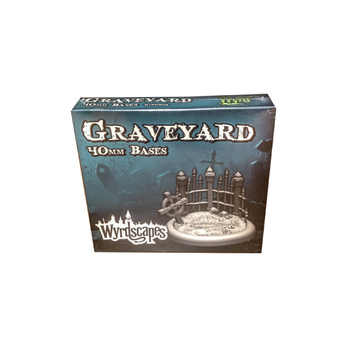 Дополнение к настольной игре Malifaux Second Edition - Wyrdscapes Graveyard 40mm Bases (2)