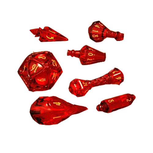 Набор кубиков Polyhero Dice Set - Wizard: Dragonfire & Brimstone