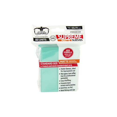 Протекторы Ultimate Guard Supreme Sleeves Matte Turquoise (80)