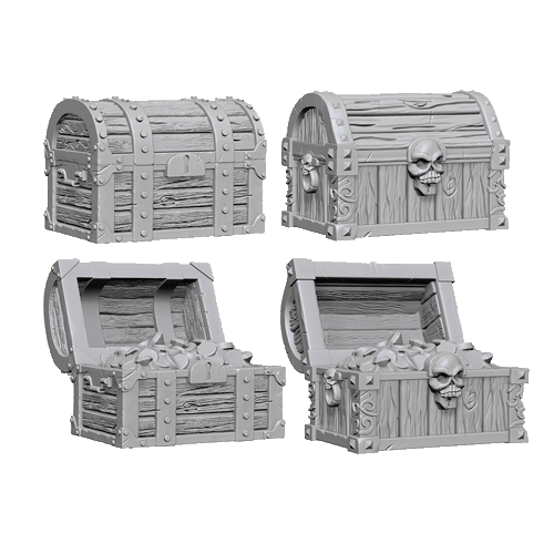 Набор Миниатюр Pathfinder Deep Cuts Unpainted Miniatures - Chests