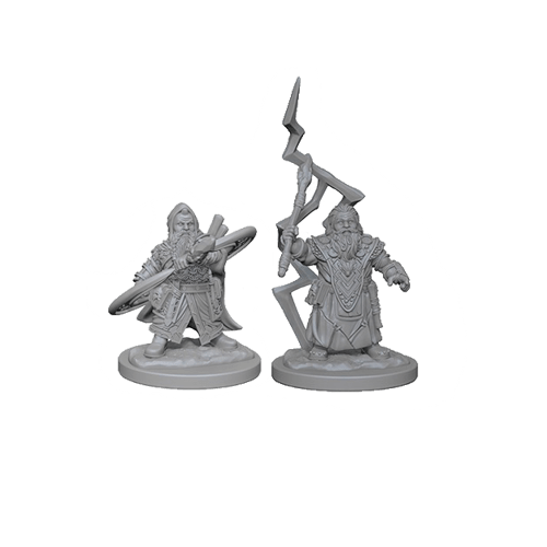 Набор Миниатюр Pathfinder Deep Cuts Unpainted Miniatures - Dwarf Male Sorcerer