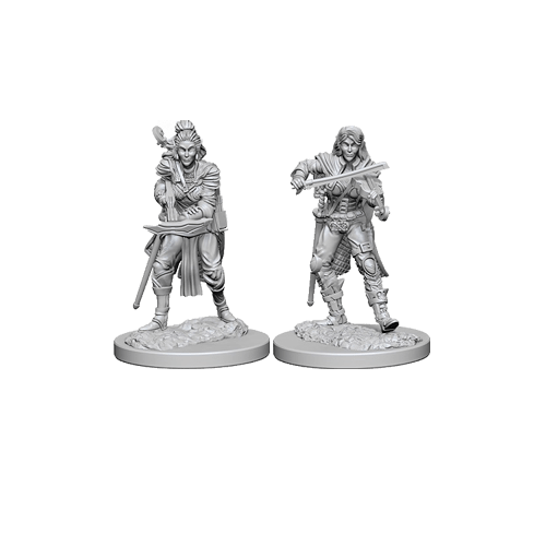 Набор Миниатюр Pathfinder Deep Cuts Unpainted Miniatures - Elf Female Bard