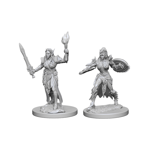 Набор Миниатюр Pathfinder Deep Cuts Unpainted Miniatures - Elf Female Fighter