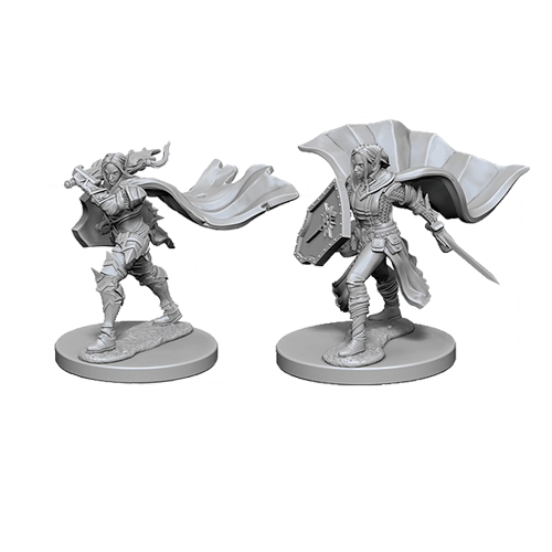 Набор Миниатюр Pathfinder Deep Cuts Unpainted Miniatures - Elf Female Paladin