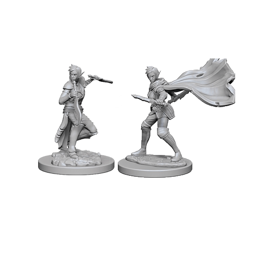 Набор Миниатюр Pathfinder Deep Cuts Unpainted Miniatures - Elf Female Rogue
