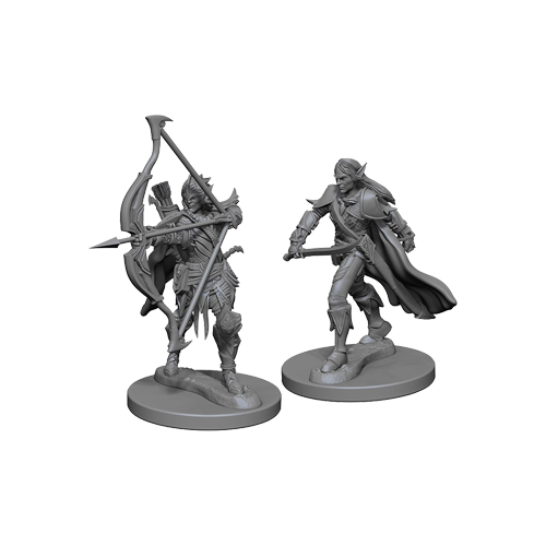 Набор Миниатюр Pathfinder Deep Cuts Unpainted Miniatures - Elf Male Fighter