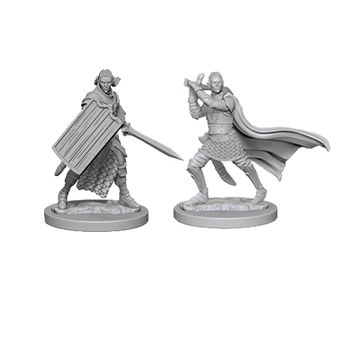 Набор Миниатюр Pathfinder Deep Cuts Unpainted Miniatures - Elf Male Paladin
