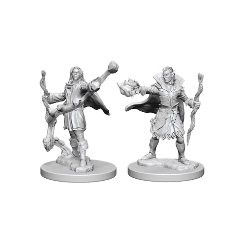Набор Миниатюр Pathfinder Deep Cuts Unpainted Miniatures - Elf Male Sorcerer