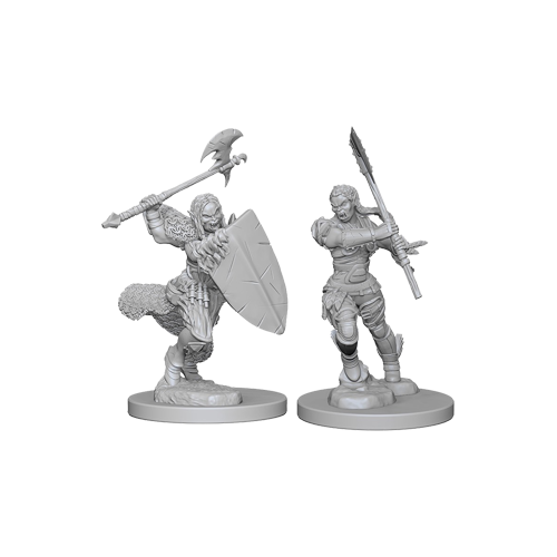 Набор Миниатюр Pathfinder Deep Cuts Unpainted Miniatures - Half-Orc Female Barbarian