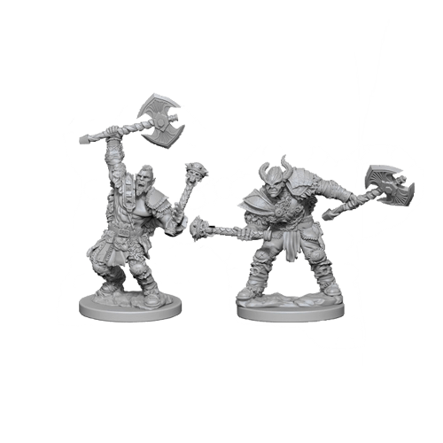 Набор Миниатюр Pathfinder Deep Cuts Unpainted Miniatures - Half-Orc Male Barbarian