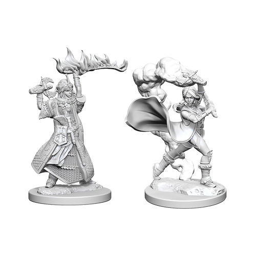 Набор Миниатюр Pathfinder Deep Cuts Unpainted Miniatures - Human Female Cleric