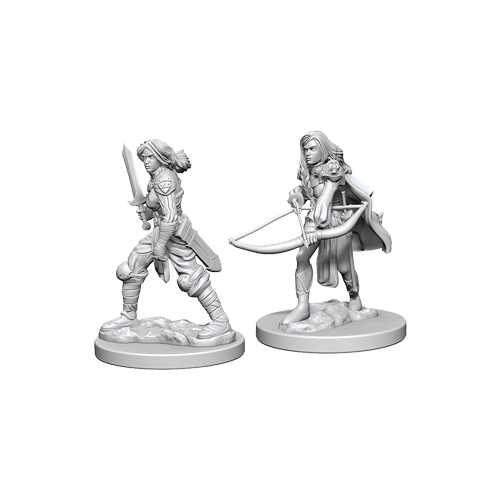 Набор Миниатюр Pathfinder Deep Cuts Unpainted Miniatures - Human Female Fighter