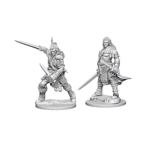 Набор Миниатюр Pathfinder Deep Cuts Unpainted Miniatures - Human Male Fighter