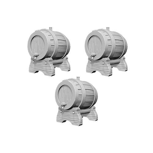 Набор Миниатюр Pathfinder Deep Cuts Unpainted Miniatures - Keg Barrels