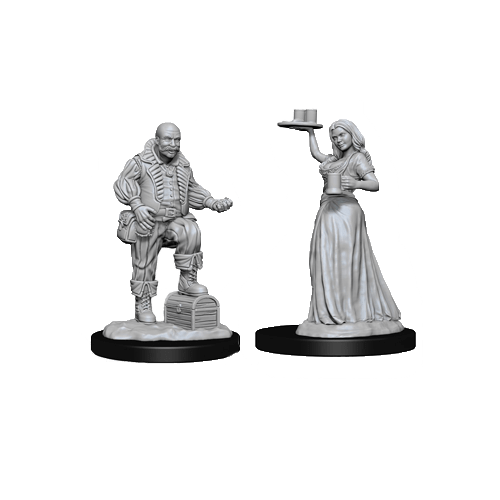 Набор Миниатюр Pathfinder Deep Cuts Unpainted Miniatures - Merchants