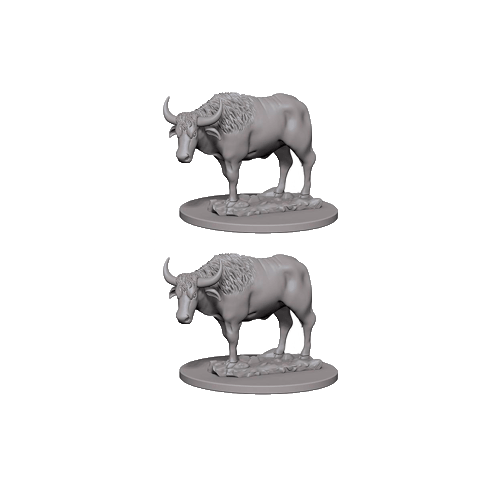 Набор Миниатюр Pathfinder Deep Cuts Unpainted Miniatures - Oxen